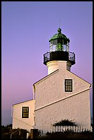 Old Point Loma Lighthouse, sunset. San Diego, California, USA