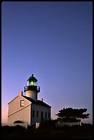 Old Point Loma Lighthouse, dusk. San Diego, California, USA ( color)