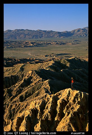 Visitor at Font Point. Anza Borrego Desert State Park, California, USA