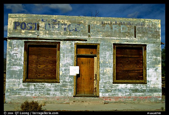 Abandonned post office. Mojave National Preserve, California, USA (color)