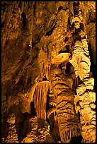 Cave formations, Mitchell caverns. Mojave National Preserve, California, USA ( color)