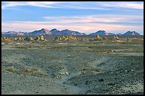 Trona Pinnacles rising from the bed of the Searles Dry Lake basin. California, USA ( color)
