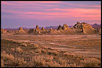 Tufa spires, Trona Pinnacles, sunset. California, USA ( color)
