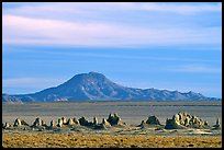 Trona Pinnacles and Mountains, late afternoon. California, USA