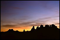 Trona Pinnacles, dusk. California, USA
