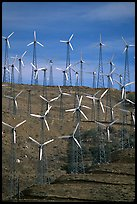 Windmill farm, Tehachapi Pass. California, USA (color)