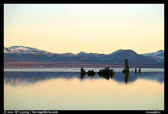 Isolated Tufa towers. Mono Lake, California, USA (color)