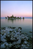 Tufa towers at dusk, South Tufa area. Mono Lake, California, USA