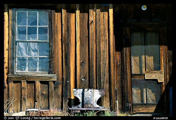 Window and wall, Ghost Town, Bodie State Park. California, USA