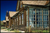 Main street row, Ghost Town, Bodie State Park. California, USA ( color)