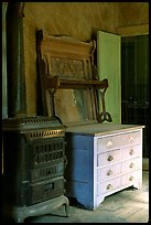 Interior furnishings, Ghost Town, Bodie State Park. California, USA (color)