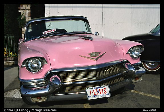 Picture/Photo: Classic Pink car, Bishop. California, USA