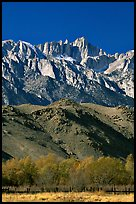 Mt Whitney, Sierra Nevada range, and foothills. California, USA ( color)