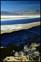 Owens Lake, Argus and Panamint Ranges, afternoon. California, USA (color)