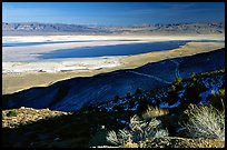 Owens Lake, Argus and Panamint Ranges, afternoon. California, USA ( color)