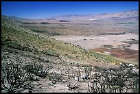Owens Valley seen from the Sierra Nevada mountains. California, USA ( color)