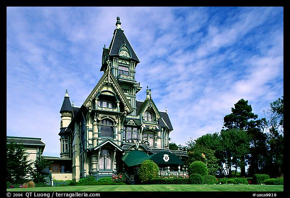 Carson Mansion, The Most Famous Victorian Building Of Eureka. California,  USA