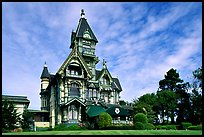 Carson Mansion, the most famous Victorian building of Eureka. California, USA (color)