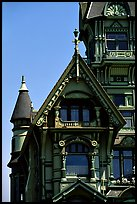 Detail of Victorian architecture of Carson Mansion, Eureka. California, USA ( color)