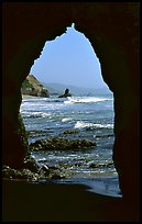 Arch near Arch Rock. Point Reyes National Seashore, California, USA