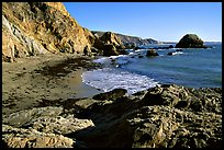 McClures Beach, afternoon. Point Reyes National Seashore, California, USA ( color)