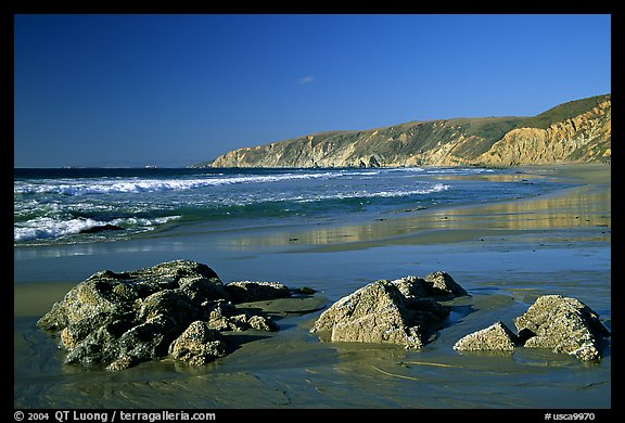 McClures Beach, afternoon. Point Reyes National Seashore, California, USA (color)