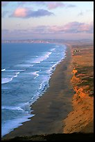 Point Reyes Beach, sunset. Point Reyes National Seashore, California, USA ( color)