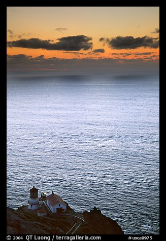 Point Reyes Lighthouse, sunset. Point Reyes National Seashore, California, USA