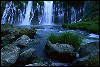 Burney Falls, McArthur-Burney Falls Memorial State Park, early morning. California, USA (color)
