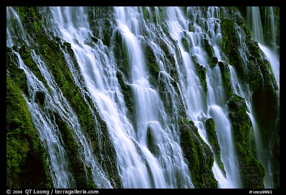 Close-up of Burney Falls, McArthur-Burney Falls Memorial State Park. California, USA