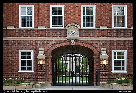 College entrance. Yale University, New Haven, Connecticut, USA (color)