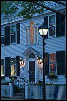 Facade and street light and dusk, Essex. Connecticut, USA ( color)