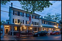 Griswold Inn at dusk, Essex. Connecticut, USA ( color)