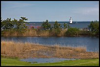Pond and lighthouse, Old Saybrook. Connecticut, USA ( color)