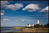 Lighthouse, Connecticut River estuary, Old Saybrook. Connecticut, USA ( color)