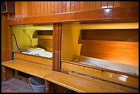 Sleeping berth on historic ship. Mystic, Connecticut, USA (color)