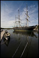 Charles W Morgan 1841 wooden whaleship. Mystic, Connecticut, USA (color)
