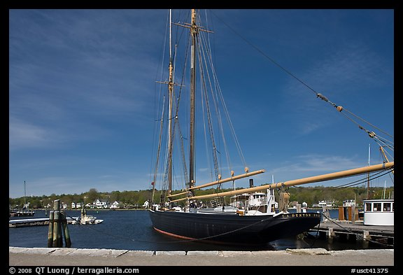 LA Dunton 19th-century fishing schooner. Mystic, Connecticut, USA (color)