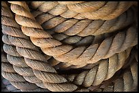 Detail of marine rope. Mystic, Connecticut, USA (color)
