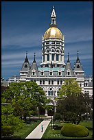 Connecticut Capitol. Hartford, Connecticut, USA (color)