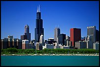 Chicago Skyline, morning. Chicago, Illinois, USA (color)