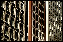 Architectural detail of facades. Chicago, Illinois, USA (color)