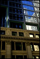 Reflections in a building facade. Chicago, Illinois, USA ( color)