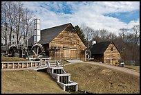 Forge and mill buildings, Saugus Iron Works National Historic Site. Massachussets, USA (color)