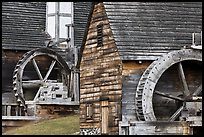 Waterwheels on mill and forge, Saugus Iron Works National Historic Site. Massachussets, USA ( color)