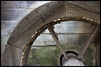 Close up of overshot wheel, Saugus Iron Works National Historic Site. Massachussets, USA (color)