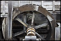 Close up of high breastshot wheel, Saugus Iron Works National Historic Site. Massachussets, USA