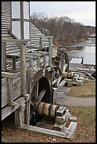Forge building and river, Saugus Iron Works National Historic Site. Massachussets, USA ( color)