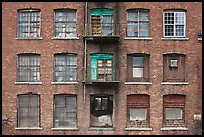 Brick facade of industrial building, Saugus. Massachussets, USA ( color)