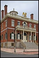 Custom House with eagle representing US government, Salem Maritime National Historic Site. Salem, Massachussets, USA (color)